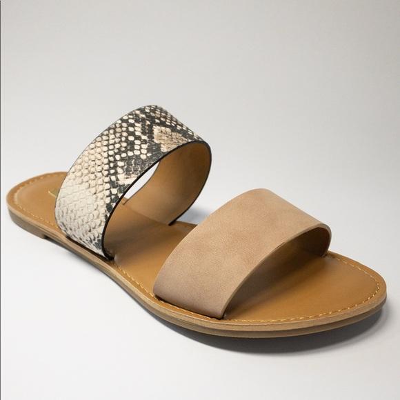 Quipid Snakeskin Sandals